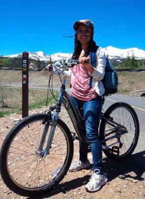 Explorando Breckenridge en dos ruedas. Fotografía: Andrea Arzaba