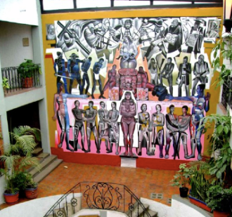 Mural de Daniel Manrique, en el Centro de Artes y Oficios Escuelita Eminiano Zapata/ Fotografía tomada de la página de la Escuelita en Facebook