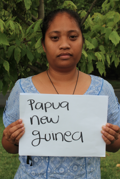 Arianne, a young activist from Papua New Guinea. Picture: Andrea Arzaba