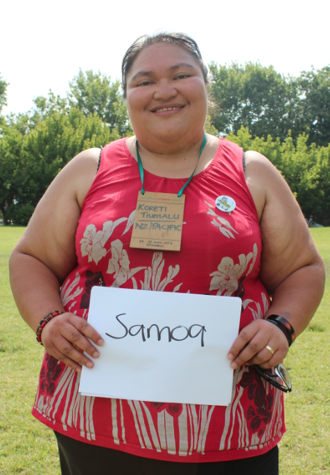 Koreti, a Climate Change activist with Samoan heritage. Picture: Andrea Arzaba