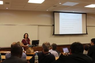 Professor Anya Schffrin at the GIJC in Rio de Janeiro