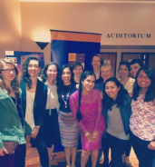 Students with Carla Ortiz, actress and producer from Olvidados.